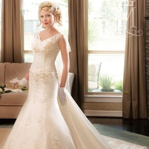 P.C. Mary's Bridal  Wedding Gown 6226 Ivory